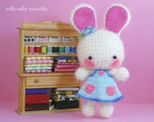 Sweet Apple Cheek Ami Bunny (Ivory Mohair)