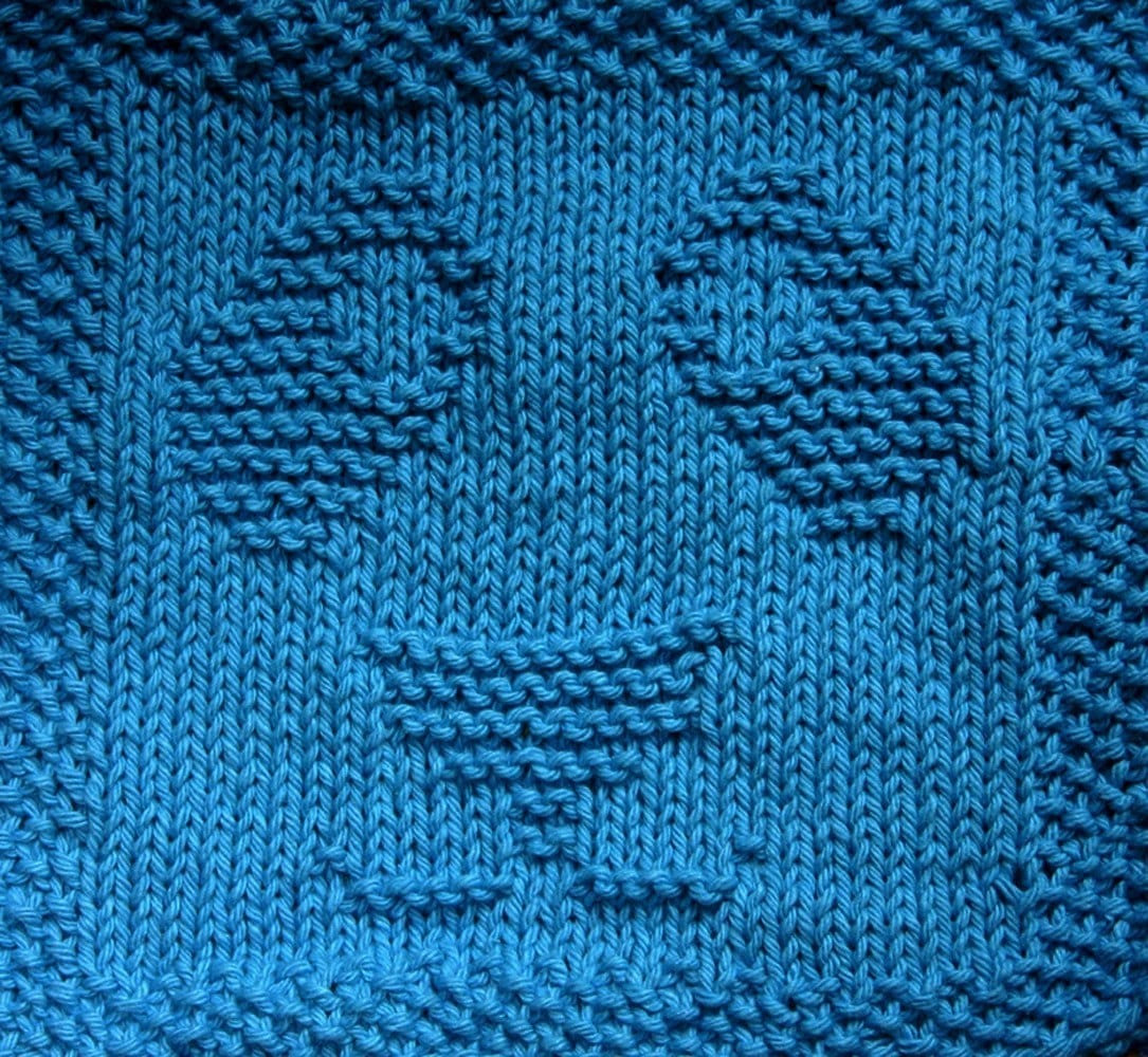 Pattern Knitted Dishcloth : PATTERN Knit Panda Face Washcloth or Dishcloth by meowy on ...