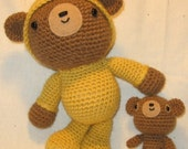 Pajama bear and his teddy - Crochet Pattern