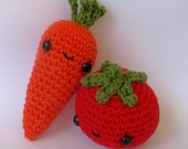 Carrot and Tomato crochet pattern