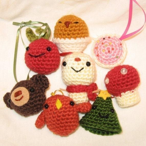 Xmas Tree Ornaments amigurumi crochet pattern