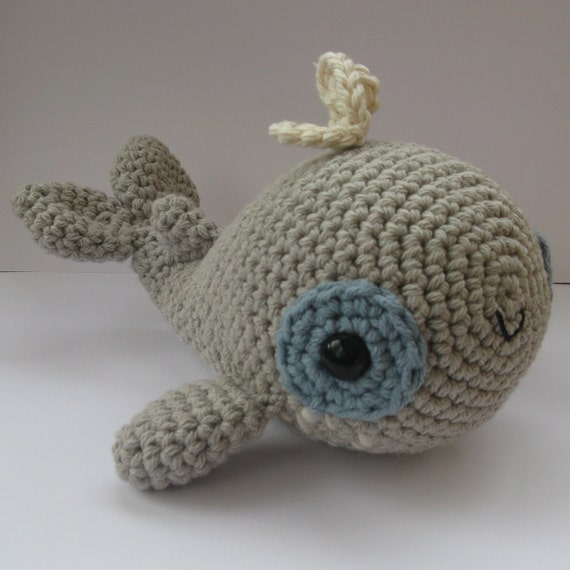 Amigurumi Christmas Ornaments Patterns : Amigurumi Whale PDF crochet pattern by anapaulaoli on Etsy