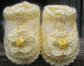 Mary Jane Booties - PDF Crochet PATTERN FOR SALE