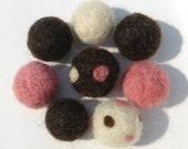 Neapolitan Ice Cream Felt Beads