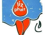 Liz Phair hand silkscreen printed rock poster limited edition