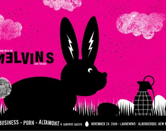 Rock poster  - The Melvins hand silkscreen printed limited edition poster