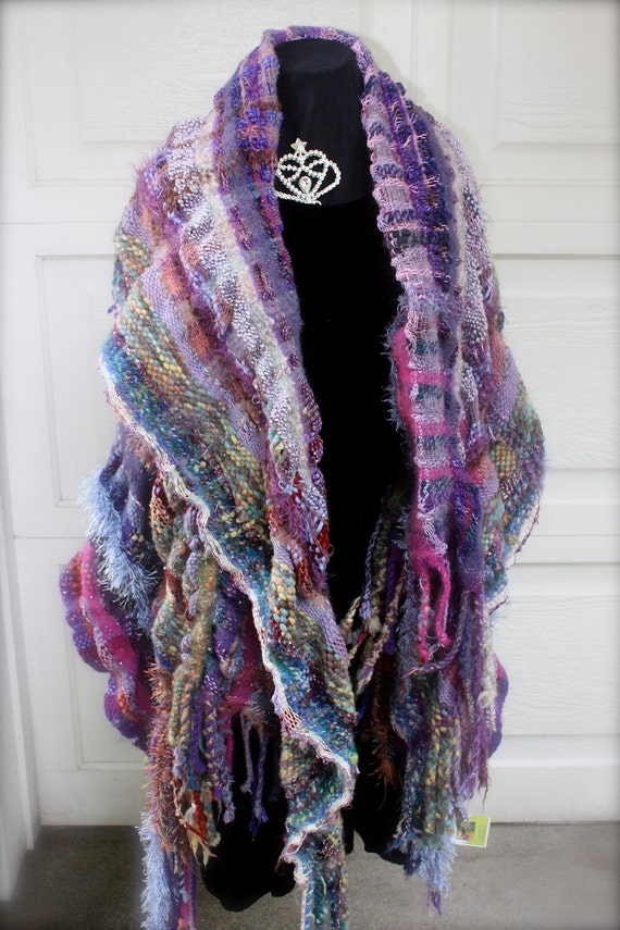 Sangria Throw/Wrap in purples