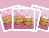 Mini cards - Cute kawaii Cupcakes