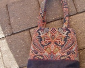 Paisley and Denim Handbag