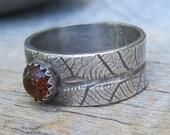 Mystic Forest - Cognac Leaf Ring Size 7.5