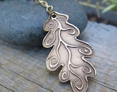 Mystic Forest - The Spiral Oak Necklace