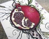 ARTifact - Persephone's Choice Note Card on Matte Linen Paper
