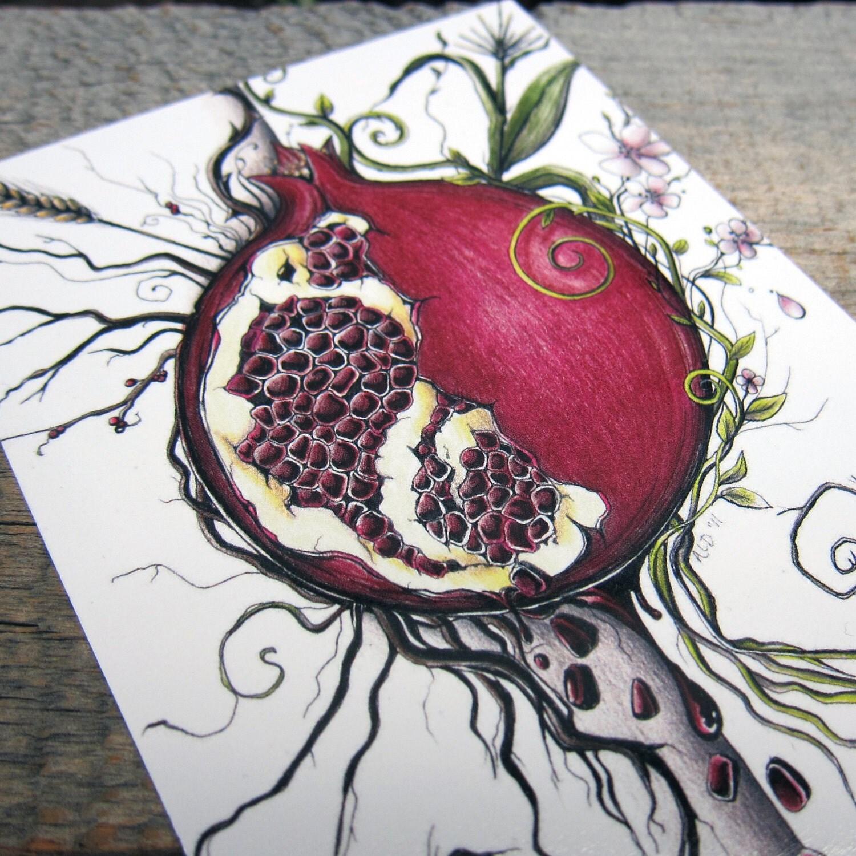ARTifact Persephone's Choice Note Card on Matte Linen