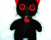Black zombie cat large