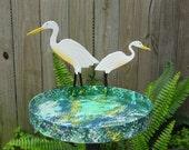 Birdfeeder with Egrets