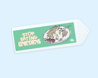 Stop Eating Unicorns Book mark with Sleeve