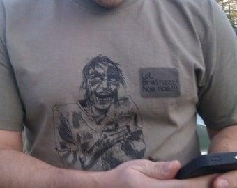 Medium Zombie Texting Shirt Mens Prairie Dust