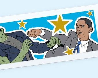 Obama vs. Zombies Book marks with Sleeve