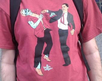 Small Obama Vs. Zombies Four Color Unisex Shirt Cedar