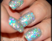Nail Art Tips - Silver Holographic Super Disco Nails