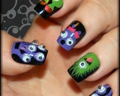 Fun and Funky Googly Eyes Monster Nail Tips