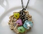 Simple Crochet Lace Necklace