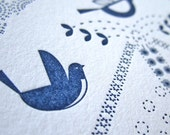 Dutchie Birds Letterpress Notecards