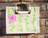 PuRsE GaL Hand Stenciled Canvas Tote\/Handbag