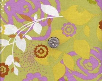 Half yard - Erin McMorris Weekend - Saturday in Grass - cotton quilt fabric - SALE - half yard