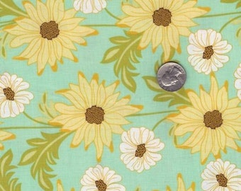 Fat quarter - Daisy Path in Robin's Egg - Meadowsweet 2 - Michael Miller cotton quilt fabric