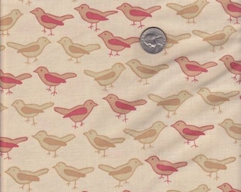 SALE - Fat quarter - Birds in Twig - Valori Wells Nest cotton quilt fabric