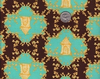 SALE - Fat quarter - Trellis in Chocolate -Tina Givens - Opal Owl cotton quilt fabric