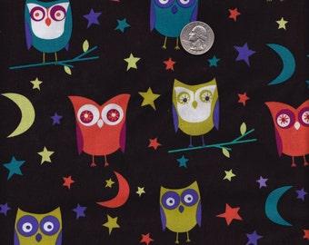 Half yard - Night Owls - Michael Miller cotton quilt fabric