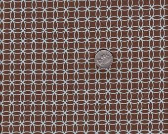 SALE - Half yard - Dena Designs Leanika Mod Circles in Brown - cotton quilt fabric