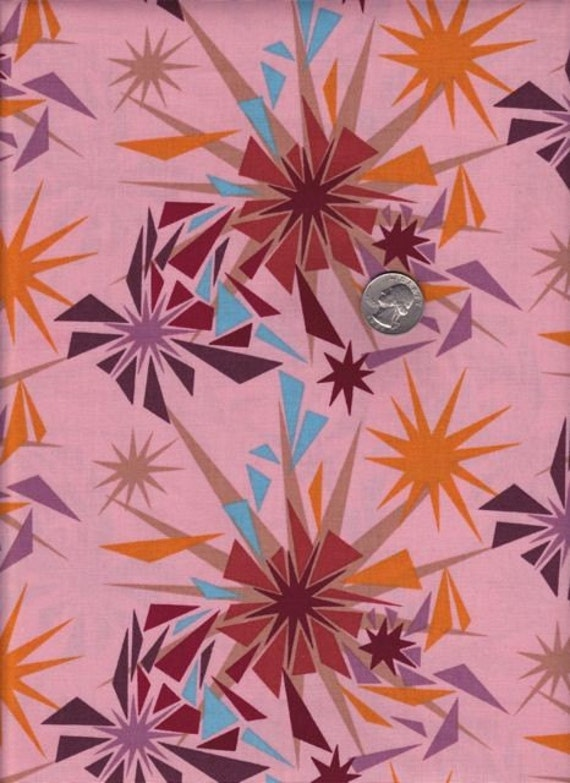 SALE - One yard - Anna Maria Horner Innocent Crush - Shattered in Punch cotton quilt fabric