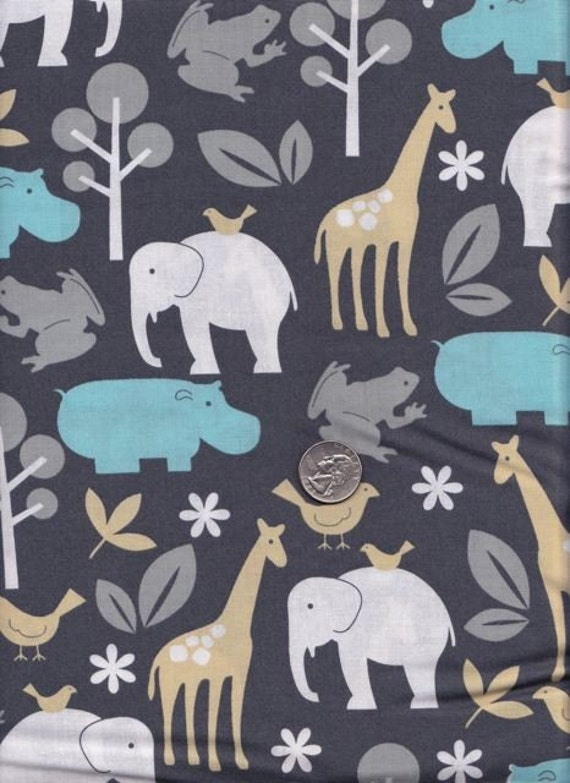 Fat quarter - Zoology in Sea - Michael Miller cotton quilt fabric