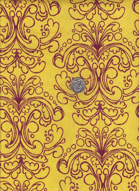 Fat quarter - Petticoat in Yellow -Tina Givens - Havens Edge cotton quilt fabric