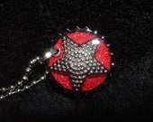 Glitter and Star resin bottlecap necklace