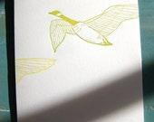 honk honk -- limited edition letterpress printed card