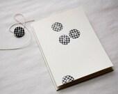 gingham -- letterpress printed card trio