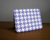 Card Wallet - Purple Houndstooth