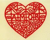 Set of 4 Amor Cards