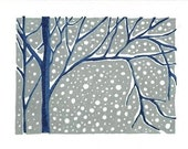 Set of 4 Snowy Day Cards