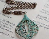 Patinated Leaf Necklace