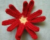 crochet flower brooch    wild flower