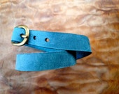 turquoise leather wrap cuff
