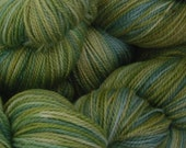 SALE Handpainted Sock Yarn MOSS