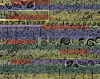 """LINOCUT PRINT  - Hundertwasser 3 - OOAK Relief Print 20""""x26"""""""
