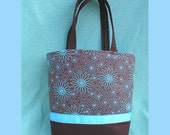 Brown and Blue Handbag