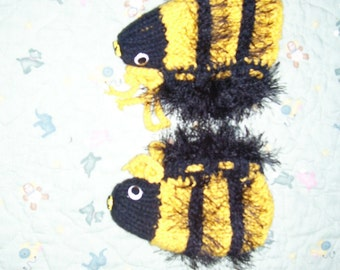 Child's  lined Bee slippers
